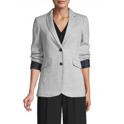 Textured Notch Lapel Blazer