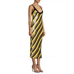 Luisa Striped Sequin Bodycon Dress