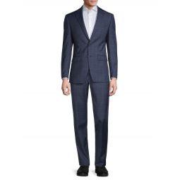 Slim-Fit Windowpane Wool-Blend Suit