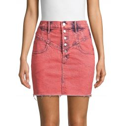 Swooner Button Denim Skirt