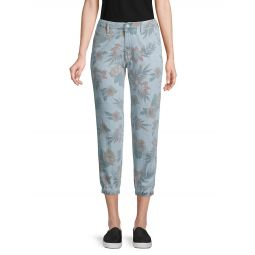 The No Zip Misfit Floral Crop Jeans
