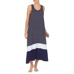 Striped Sleeveless Nightgown
