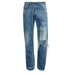 D-Kodeck Distressed Straight Jeans