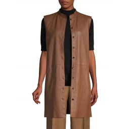 Malva Lamb Leather Longline Vest