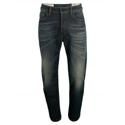 D-eetar Button-Fly Tapered Jeans