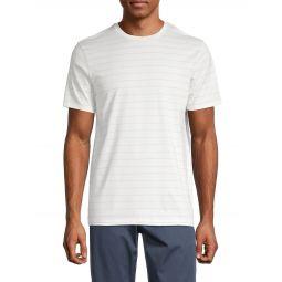 Pixel Stripe Cotton T-Shirt