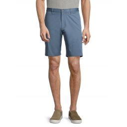 Zaine Flat-Front Chino Shorts
