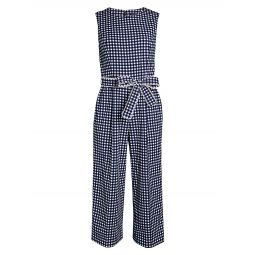 Gingham Wrap Jumpsuit