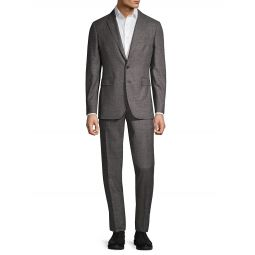 Standard-Fit Textured Wool Suit