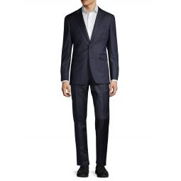 Standard-Fit Striped Wool Suit