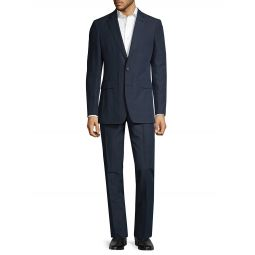 Standard-Fit Striped Cotton-Blend Suit