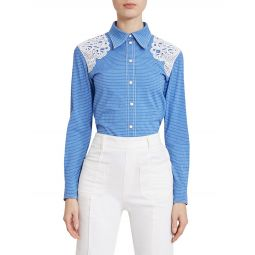 Lace Detail Western Shirt