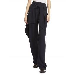 Ruffled Silk Georgette Pants