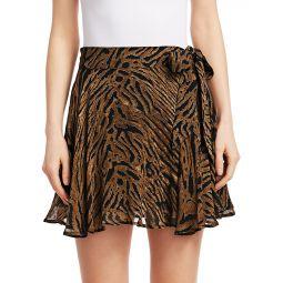 Printed Georgette Mini Skirt