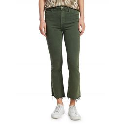 Hustler High-Rise Ankle Crop Flare Jeans