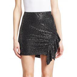 Lilie Sequin Ruffle Mini Skirt