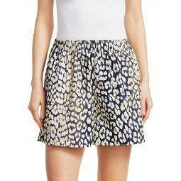 Leopard-Print Cotton Poplin Shorts