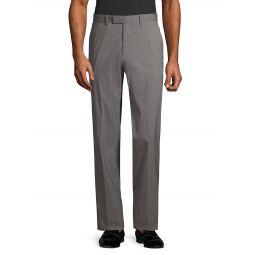Buttoned-Pocket Wool-Blend Pants