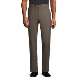 Wool-Blend Dress Pants