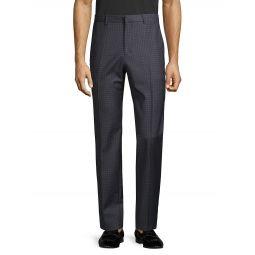 Checkered Wool-Blend Pants