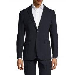 Tailored-Fit Wool-Blend Suit Jacket