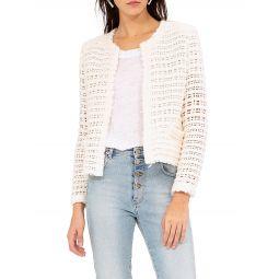 Startle Open-Weave Short Jacket