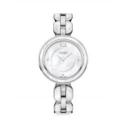 Fendi My Way Stainless Steel & Mother-Of-Pearl Bracelet Watch