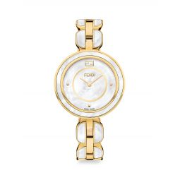 Fendi My Way Goldtone Stainless Steel & Mother-Of-Pearl Bracelet Watch