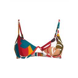 Printed Underwire Triangle Bikini Top