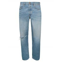 Dagh Distressed Straight-Leg Jeans