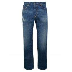 Kodeck Distressed Straight-Leg Jeans