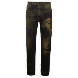 Type-2880 Slim Leg Printed Jeans