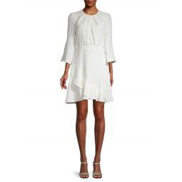 Rosina Chiffon Mini Ruched & Ruffle A-Line Dress