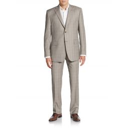 Classic-Fit Plaid Wool Suit