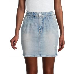 The Double Dart Denim Mini Skirt