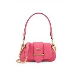Texured Leather Shoulder Bag