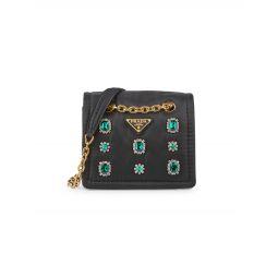 Embellished Chain Shoulder Bag