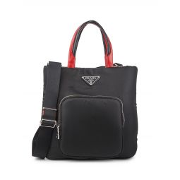 Padded Leather-Trim Cargo Tote