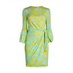 Faridah Print Side-Knot Sheath Dress