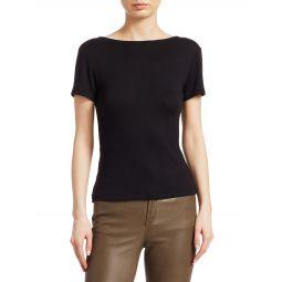 Surplice Open-Back T-Shirt