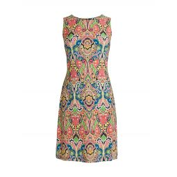 Bohemian-Print Sheath Dress
