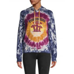 The Square Tie-Dye Cotton Hoodie