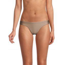 Basic Ruched-Back Bikini Bottom