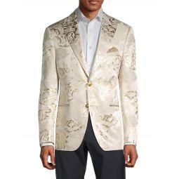 Floral Jacquard Tuxedo Jacket