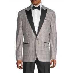 Plaid Tuxedo Jacket