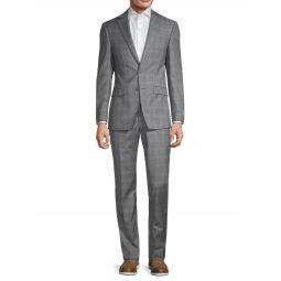 Slim-Fit Plaid Wool-Blend Suit