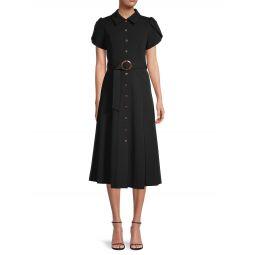 Belted Midi Shirtdress