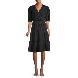 Mary Puff-Sleeve Flare Dress