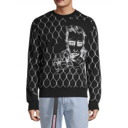 Graphic-Print Pullover