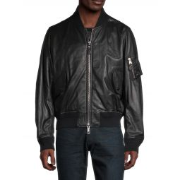 Lenton Leather Bomber Jacket